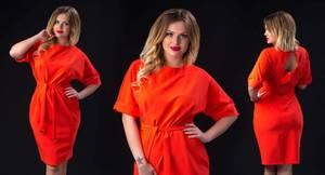 Платье короткое нарядное однотонное Ф6036