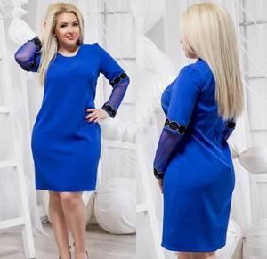 Платье короткое нарядное однотонное Ф5500
