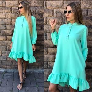 Платье короткое повседневное с длинным рукавом У0840