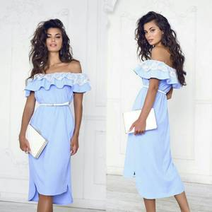 Платье короткое нарядное однотонное Т7896