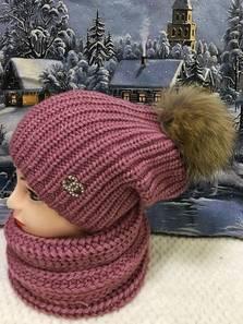 Шапка и шарф Хомут П1842