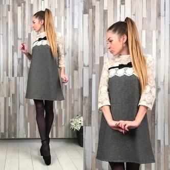 Платье короткое повседневное нарядное Р2313