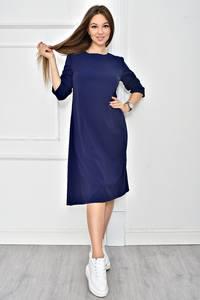 Платье короткое однотонное синее У0540