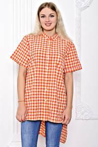 Рубашка в клетку с коротким рукавом С8358