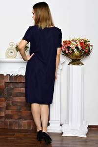 Платье длинное синее нарядное Р6342