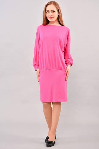 Платье короткое с длинным рукавом красное И3235