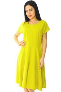 Платье короткое летнее желтое Н5873