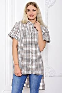Рубашка в клетку с коротким рукавом С8359