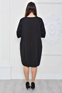 Платье короткое вечернее черное П9626