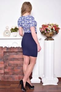 Платье короткое повседневное облегающее Р8944