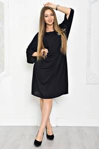 Платье короткое черное вечернее Т1914