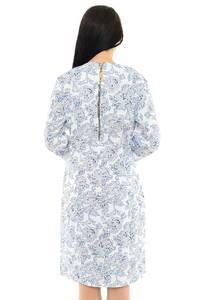 Платье длинное с принтом зимнее М5437