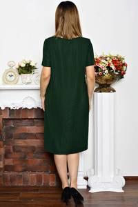 Платье длинное зеленое нарядное Р6344