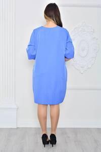 Платье короткое вечернее голубое П9627