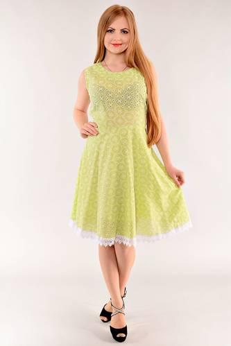 Платье длинное с коротким рукавом желтое И1402