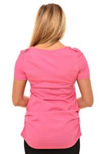 Блуза розовая с коротким рукавом Л0557