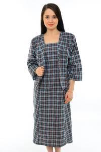 Платье двойка длинное офисное повседневное М5438
