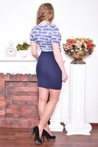 Платье короткое повседневное облегающее Р8945