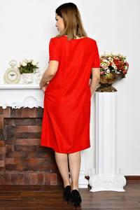 Платье длинное нарядное красное Р6345