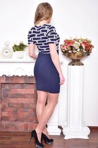 Платье короткое повседневное облегающее Р8946