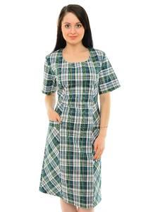 Платье длинное с коротким рукавом повседневное М5439