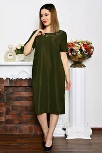 Платье длинное деловое однотонное Р6348