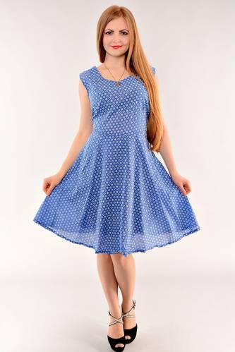Платье длинное летнее синее И1405