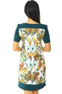 Платье короткое зеленое летнее Н5880