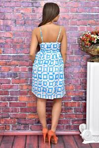 Платье короткое с принтом летнее Т4083