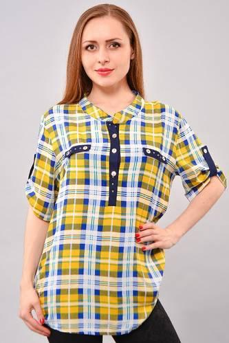 Рубашка в клетку с коротким рукавом И3250