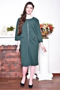 Платье длинное зимнее зеленое Р8730