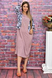 Платье длинное офисное нарядное Т4084