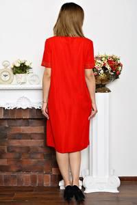 Платье длинное вечернее красное Р6352