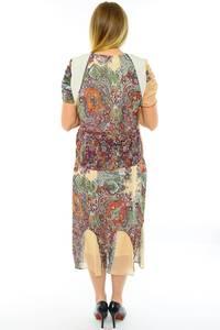 Платье длинное с коротким рукавом летнее Н0142