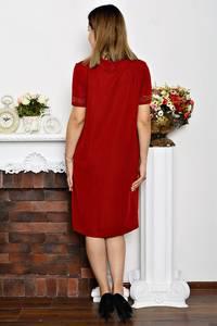 Платье длинное вечернее красное Р6353