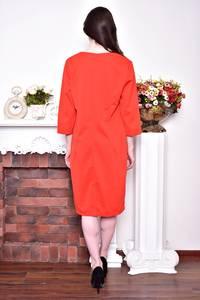 Платье длинное зимнее красное Р8732