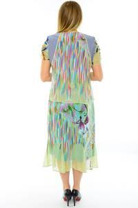 Платье длинное с коротким рукавом летнее Н0143