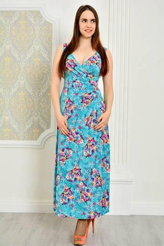 Платье длинное повседневное без рукавов П9193