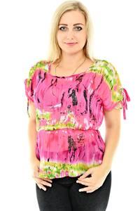 Блуза летняя с коротким рукавом П0430