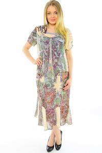 Платье длинное с коротким рукавом нарядное Н0145