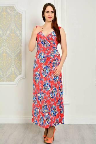 Платье длинное повседневное без рукавов П9194