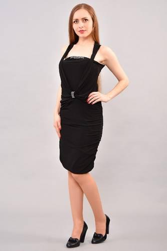 Платье короткое летнее черное И3245