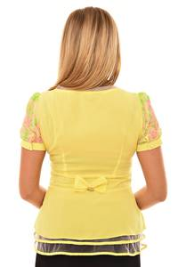 Блуза желтая с баской Л0566