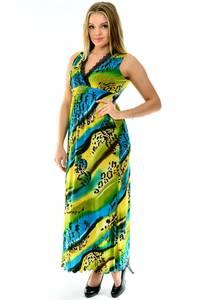 Платье длинное летнее с принтом П1268