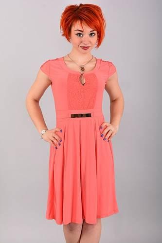 Платье длинное с коротким рукавом красное В0918