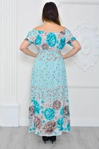 Платье длинное повседневное с принтом П9643