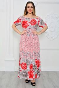 Платье длинное повседневное с принтом П9644