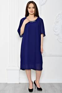 Платье длинное вечернее синее Т0604