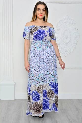Платье длинное повседневное с принтом П9645