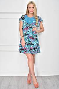 Платье короткое с принтом летнее У0255